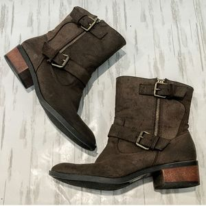 Chinese Laundry Robin hood brown Moto boots